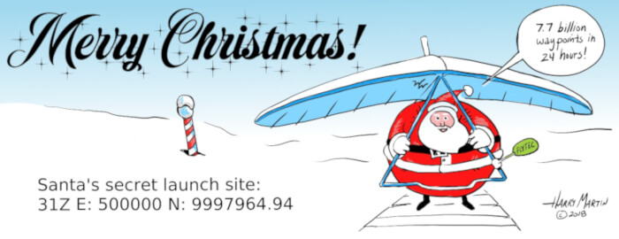 2018 Hang Gliding Christmas Card