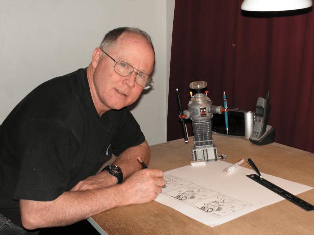 Harry Martin in his studio
